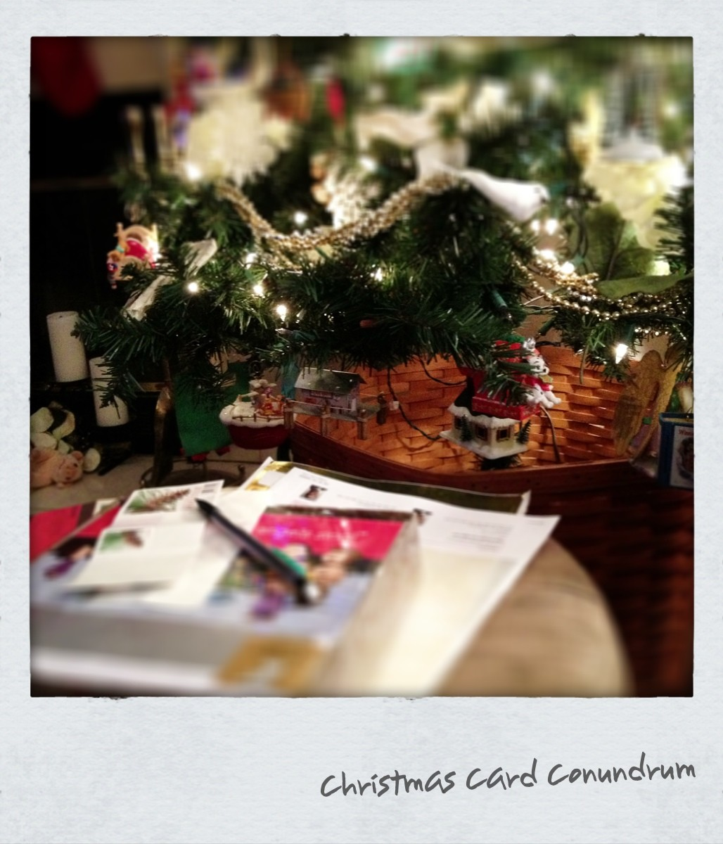Christmas Card Conundrum. In Which I Both Love And Hate